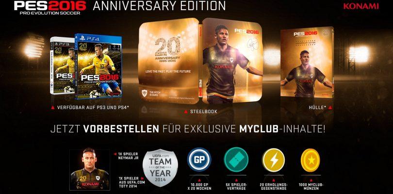 PES 2016 – Cover und Inhalt der Anniversary Edition