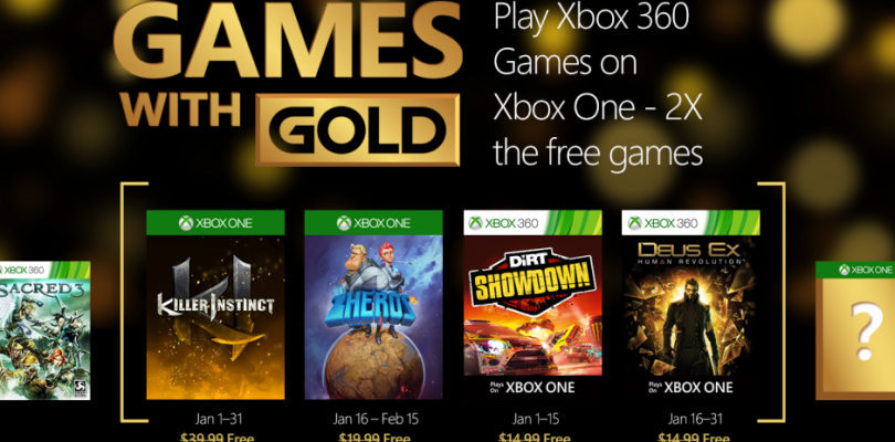 Games with Gold im Januar 2016