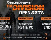 The Division – Die Open Beta Termine stehen fest