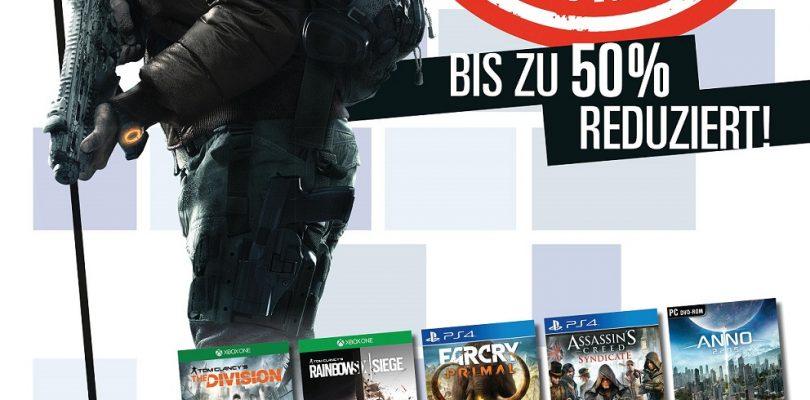 Ubisoft Blockbuster Sale startet im Handel!