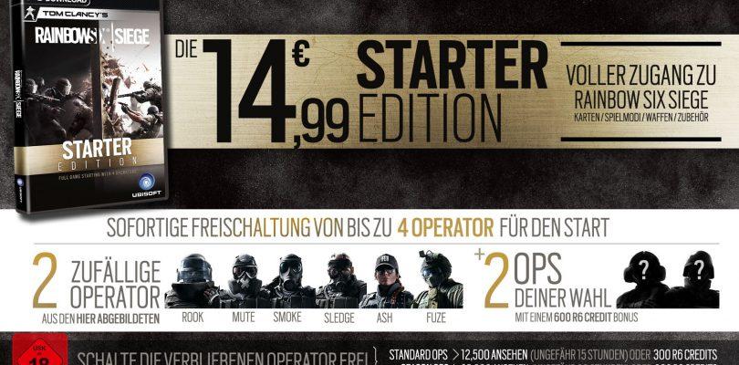 Rainbow Six Siege – Starter Edition für 15€ verfügbar