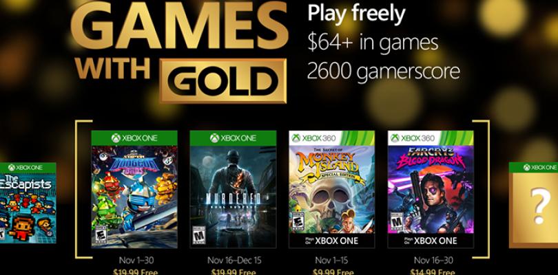 Games with Gold für den November 2016