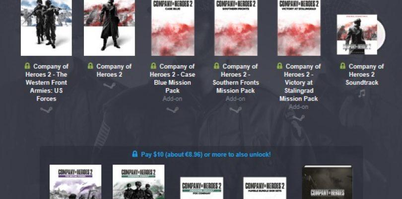 Humble Bundle – Riesiges Company of Heroes Paket im Angebot