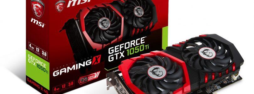 MSI – Vier Einsteiger-Grafikkarten von GeForce GTX 1050 & GTX 1050 Ti