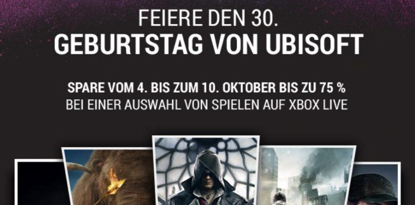 Ubisoft Sale via XBox Live – Bis zu 75% Rabatt