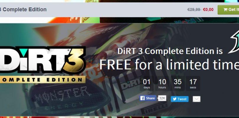 Dirt 3 Complete Edition – 24 Stunden könnt ihr es noch gratis abgreifen