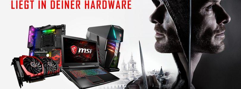 MSI Gewinnspiel zum Assassins Creed Film
