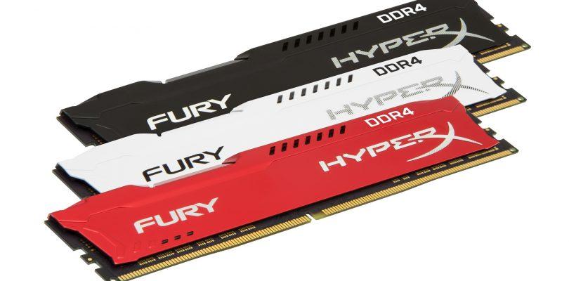 HyperX FURY DDR4-Ram-Riegel mit 2666MHz für Intel und AMD vorgestellt
