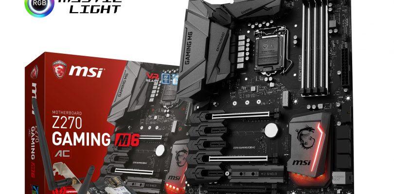 MSI Z270 Gaming M6 AC – Mainboard mit Wi-Fi- und Bluetooth-Karte