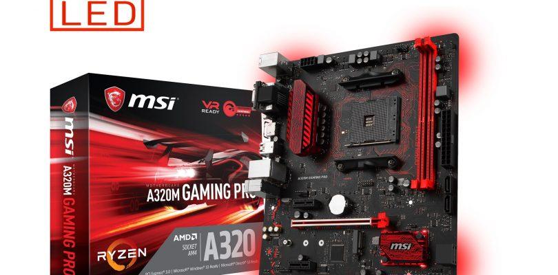 MSI bringt vier AM4-Motherboards mit AMD A320 Chipsatz für Einsteiger auf den Markt