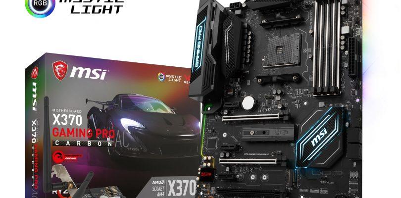 MSI erweitert Ryzen Line-Up mit 5 neuen Gaming Motherboards zu AMD Ryzen