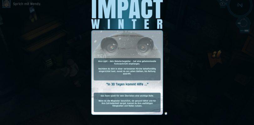 Test: Impact Winter – Können wir 30 Tage lang überleben?