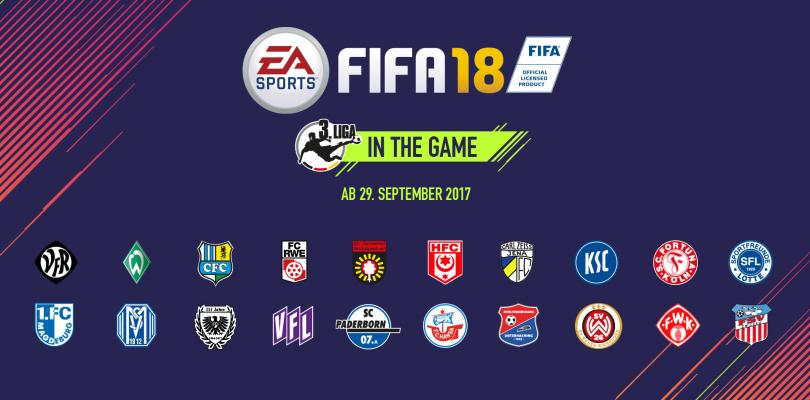 Fifa 18 – Dritte deutsche Liga und DFB-Pokal erstmalig mit an Board