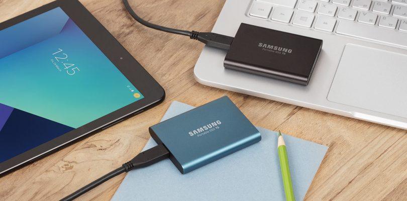 """Neue portable SSDs """"T5"""" von Samsung mit bis zu 2 TB-Speicher"""