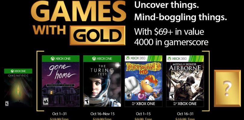 Hier sind die Games With Gold für den Oktober 2017