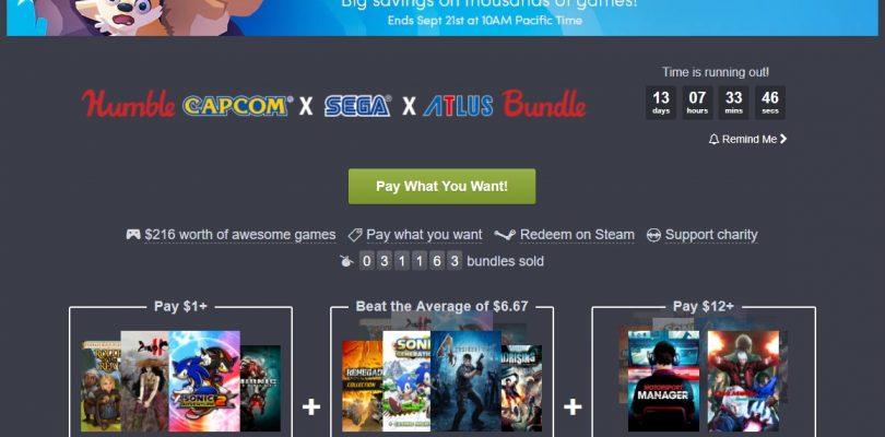Humble Bundle mit Titeln von Capcom, Sega und Atlus