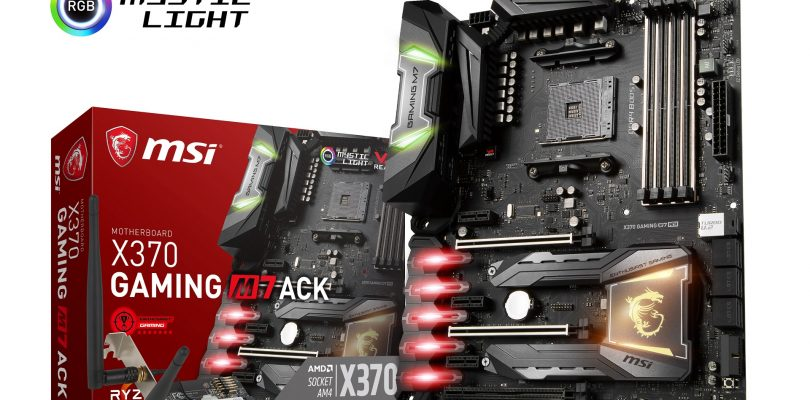 MSI startet mit neuem High-End-Mainboard X370 GAMING M7 ACK in den Handel