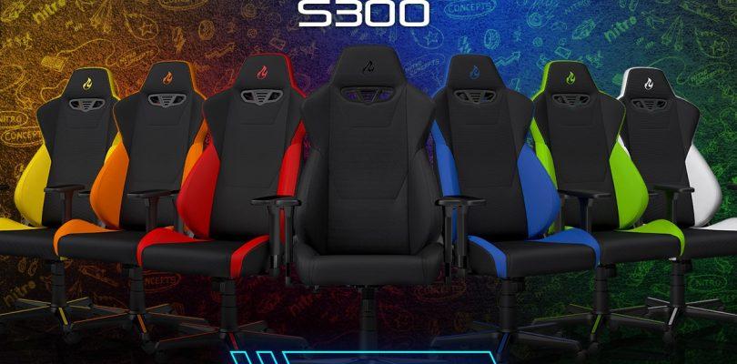 Die neue Nitro Concepts S300 Gaming-Stuhl-Serie kann ab sofort vorbestellt werden