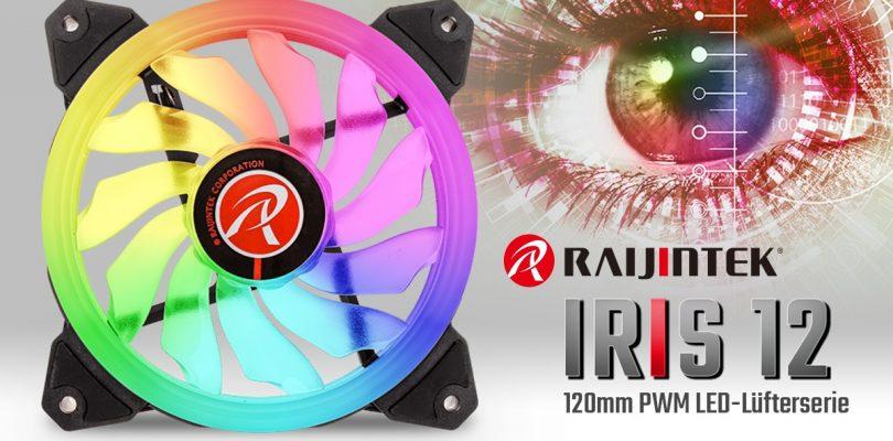 Regenbogen-LED-Lüfter IRIS 12 von Raijintek veröffentlicht