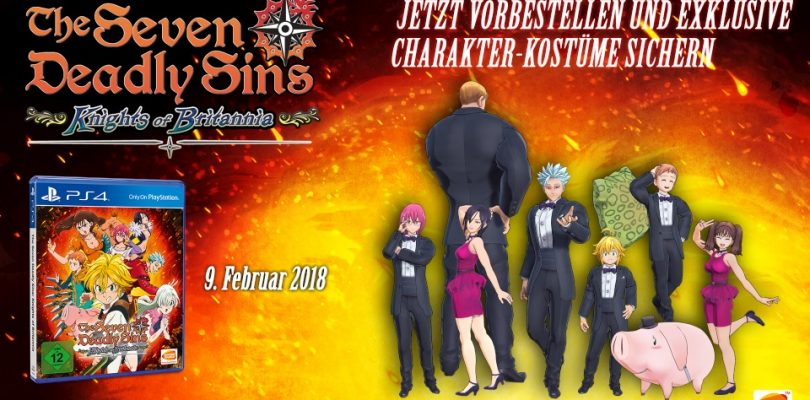 The Seven Deadly Sins: Knights of Britannia erscheint am 09. Februar