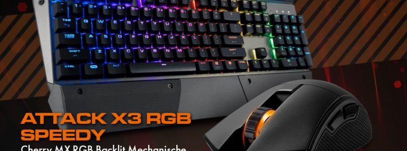 Cougar veröffentlicht Revenger S Gaming-Maus und die Attack X3 RGB Speedy Tastatur