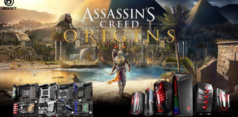 Assassin's Creed: Origins gratis erhalten beim Kauf von MSI-Produkten