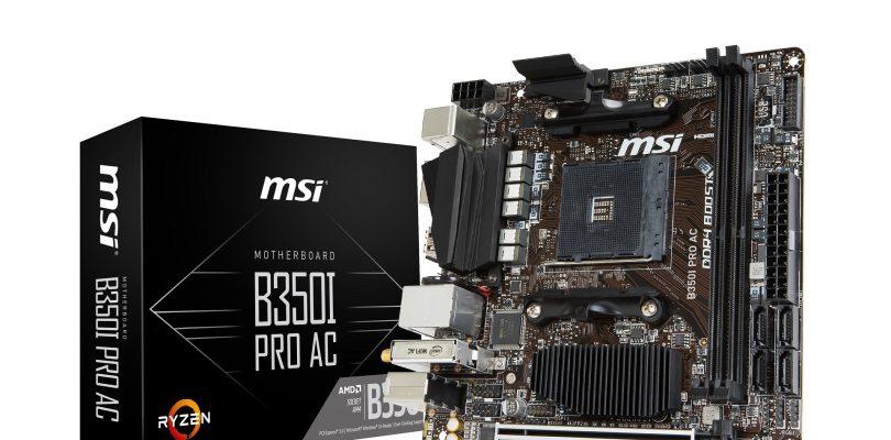 Neues Mini-ITX-Mainboard MSI B350I PRO AC im Detail