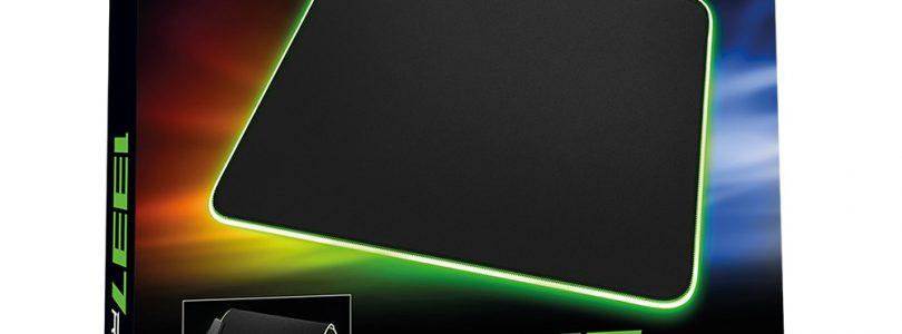 Die 1337 Gaming Mats gibt es nun auch mit RGP-Beleuchtung von Sharkoon