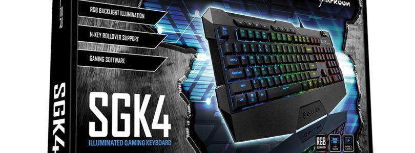 SKILLER SGK4 – Tastatur von Sharkoon startet um 29,99€ in den Handel