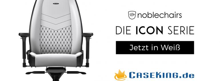 Caseking: noblechairs ICON erstrahlt nun auch in weißer Farbe
