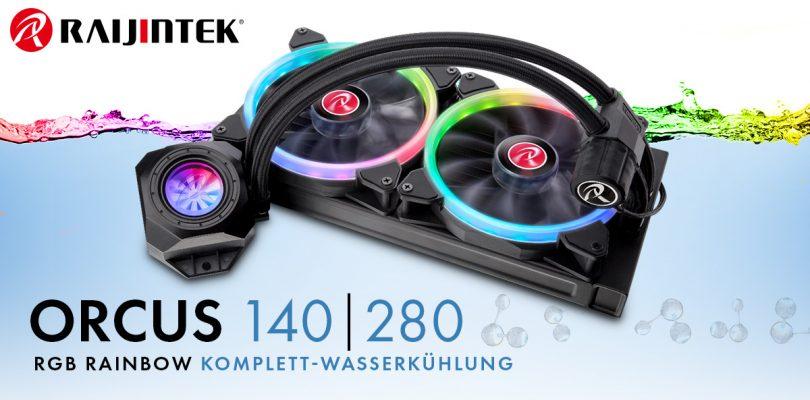 Raijintek Orcus RGB Rainbow Komplett-Wasserkühlung startet bei Caseking