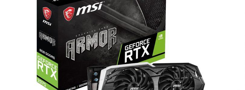 MSI präsentiert die NVIDIA GeForce RTX 2070 Grafikkarten im Custom-Design