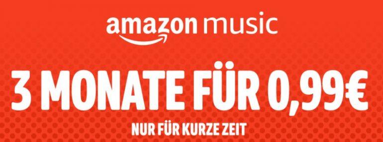 Amazon Music Unlimited – Drei Monate zum Kampfpreis von 99 Cent abgreifen