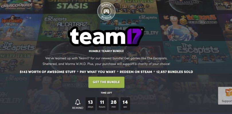 Humble Bundle – Paket von Team17 mit Worms und Escapists