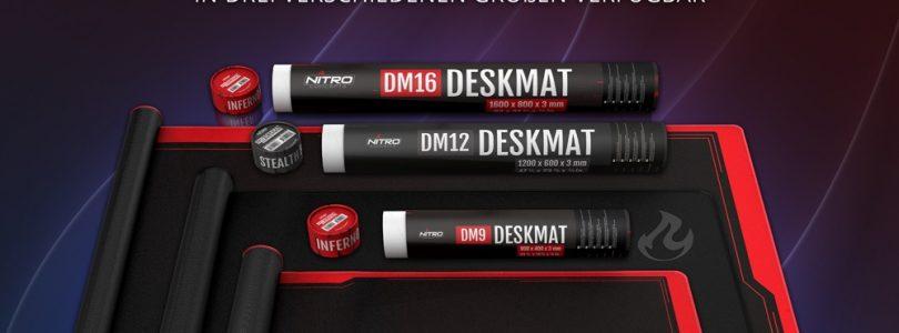Nitro Concepts Deskmats verwandeln den kompletten Schreibtisch in ein Mousepad