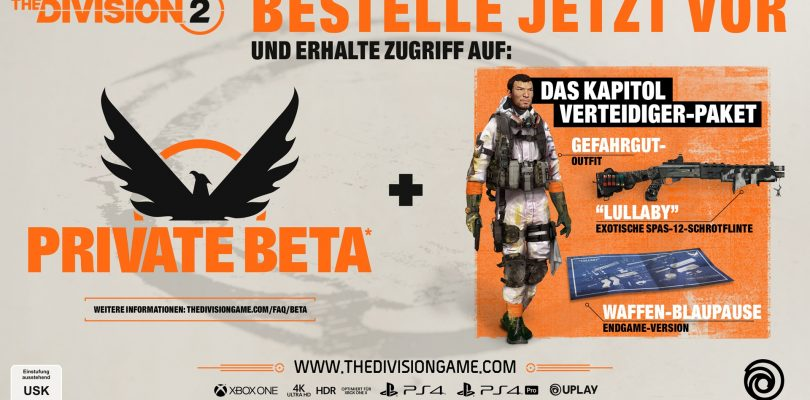 The Division 2 – Infos zur Private Beta