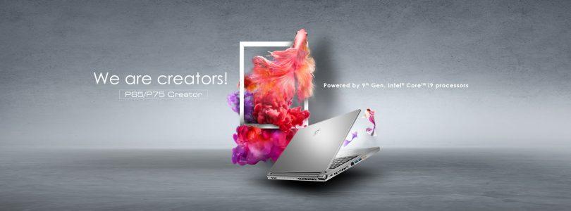 P75 Creator – MSI veröffentlicht leichten aber leistungsfähigen Laptop