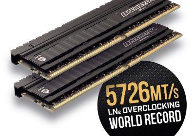 Ballistix Elite – DDR4 Ram-Riegel stellen neuen Overclocking-Weltrekord auf