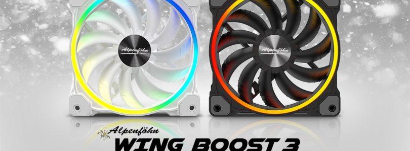 Alpenföhn startet mit RGB-Lüftern Wing Boost 3 durch