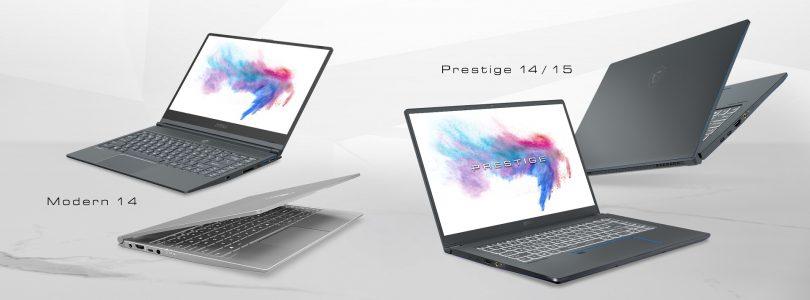 """MSI bringt neue """"Content Creation""""-Laptops der Serie Prestige und Modern"""