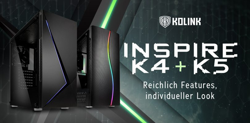 Kolink veröffentlicht neue ATX-Gehäuse Inspire K4 & K5