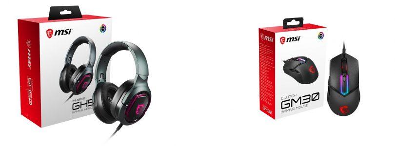 MSI präsentiert neue Maus CLUTCH GM30 und Headset IMMERSE GH50