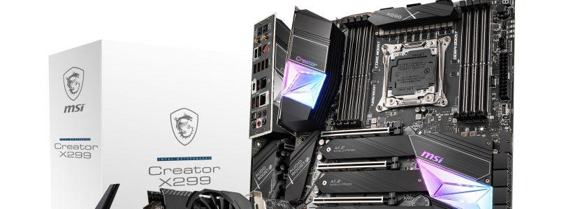 MSI X299 – Spezielle Mainboards für Intels Core-X-Reihe
