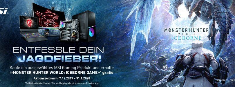MSI-Hardware kaufen und Monster Hunter World als auch Iceborne gratis erhalten