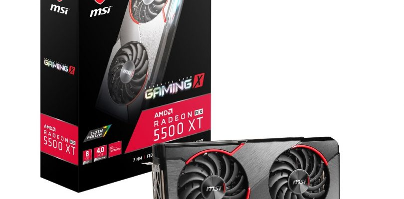 MSI Radeon RX 5500 XT GAMING X im Detail
