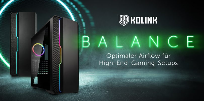 Kolink Balance ARGB – Midi-Tower mit adressierbarer RGB-Beleuchtung