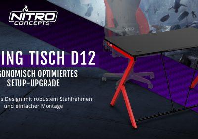 Nitro Concepts D12 – Das Einsteigermodel des Gaming-Tisches im Detail