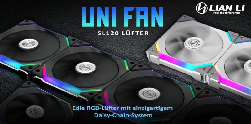 Die Lian Li UNI FAN SL120 Lüfter im Detail