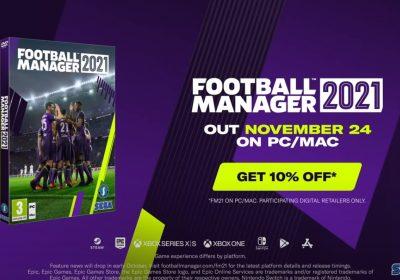 Football Manager 2021 erscheint am 24. November